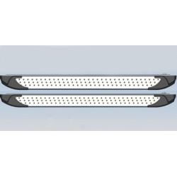 Пороги для Шеви Нива, (2009-и позднее) алюминиевые, BMW-style