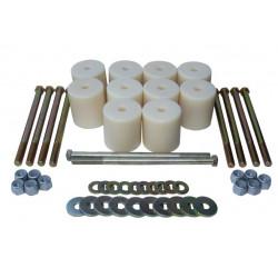 Комплект для лифтовки кузова Body Lift (боди-лифт) автомобилей УАЗ Патриот 3162 / 3163 / 3164 - 60 мм
