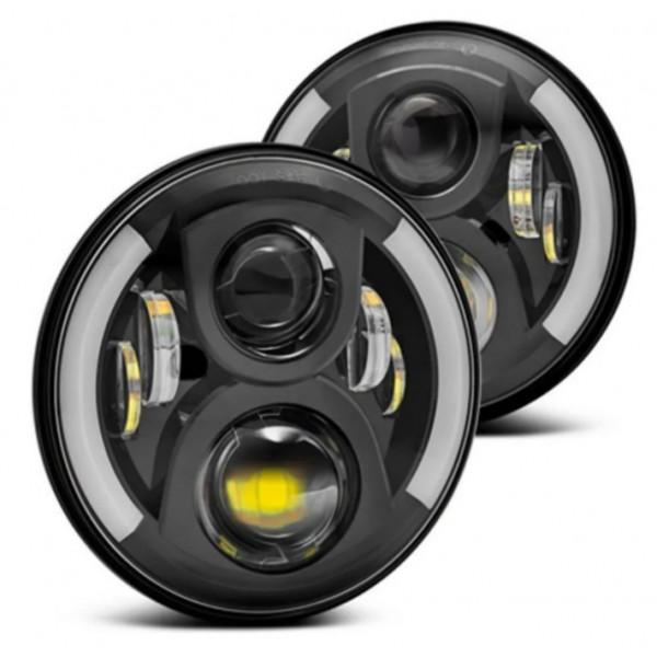 Светодиодные фары Нива, УАЗ Хантер Black Edition 2х60W (полусфера)